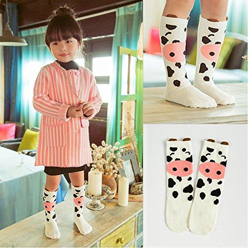 a09b329dcc21d Socks – Bestjybt 6 Pairs Unisex Baby Girls Socks Knee High Socks Animal  Baby Stockings, S (0-12 Months)