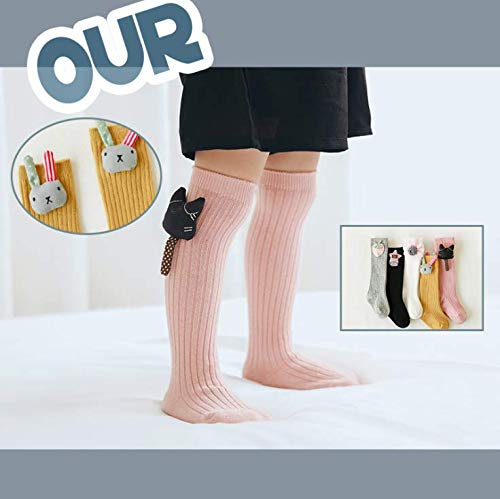 bd26e86af46 Socks – Jastore 5 Pairs Warm Winter Baby Girl Cartoon Stocking Knit Knee  High Princess Cotton Socks (Assorted color-5 Pairs